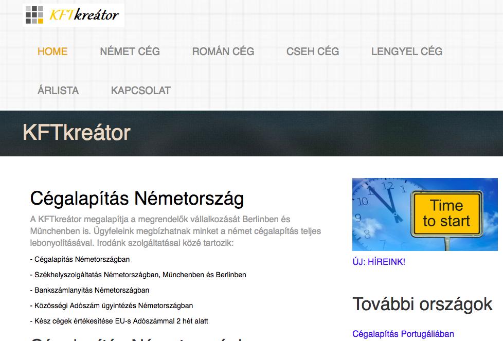 cégalapítás németország