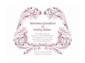 virágos esküvői meghívó